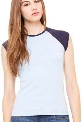 maglietta Bella bicolore maniche corte