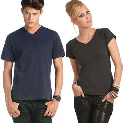 maglietta moda B&C uomo donna scollo V