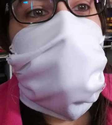 mascherina protezione vie respiratorie in tessuto