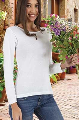 maglietta donna aderente maica lunga