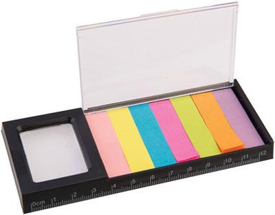 Righello Lente Blocchi adesivi colorati