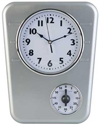 orologio parete con timer