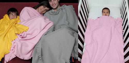 plaid in pile adulto e lettino neonato